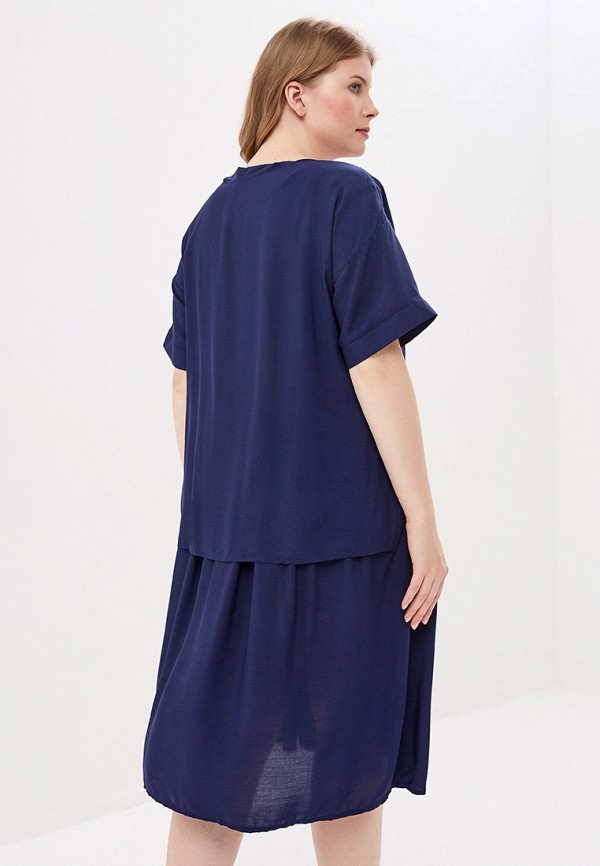 Фото 3 - Женское платье Bordo синего цвета