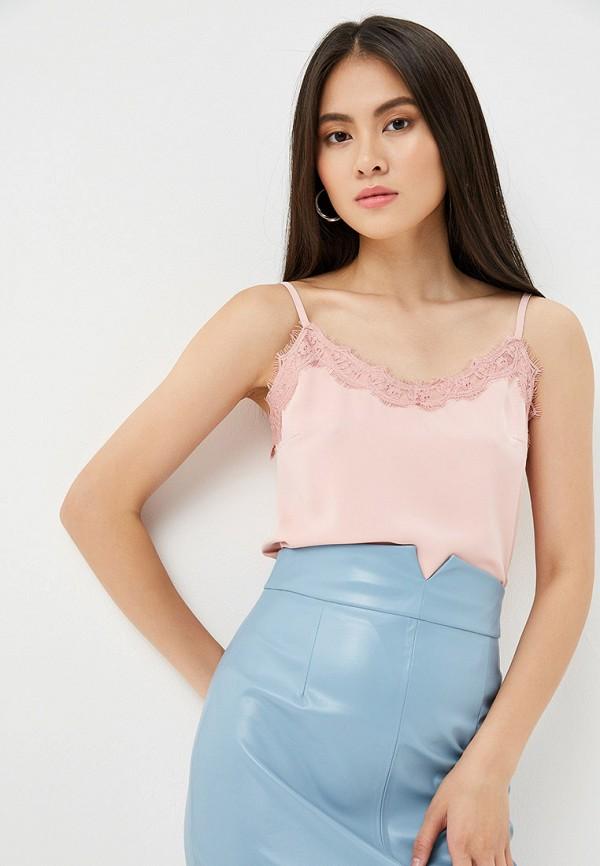 женский топ avemod, розовый