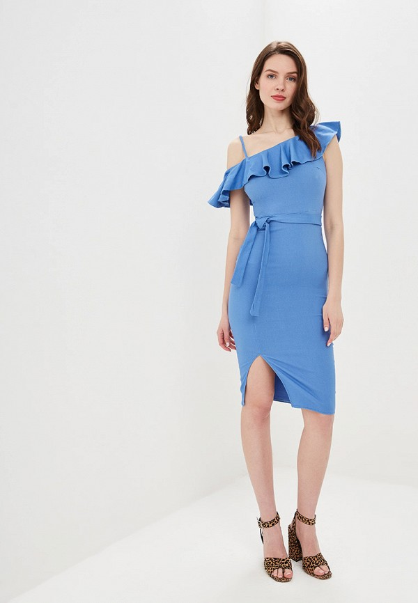 Платье Avemod цвет голубой  Фото 2
