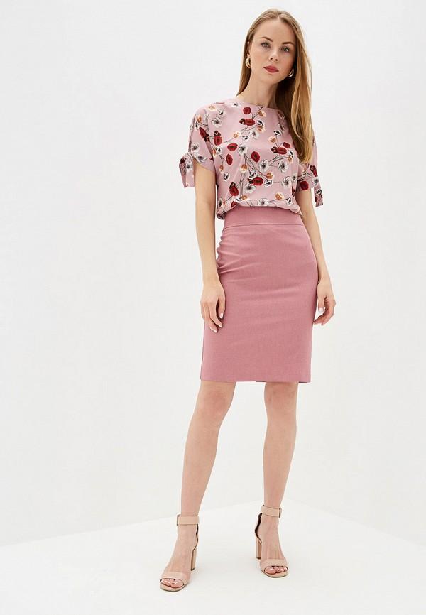 Фото 2 - Блузу shovsvaro розового цвета