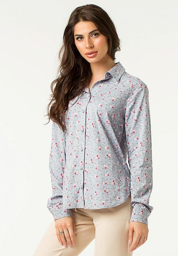 женская рубашка с длинным рукавом lilove, голубая