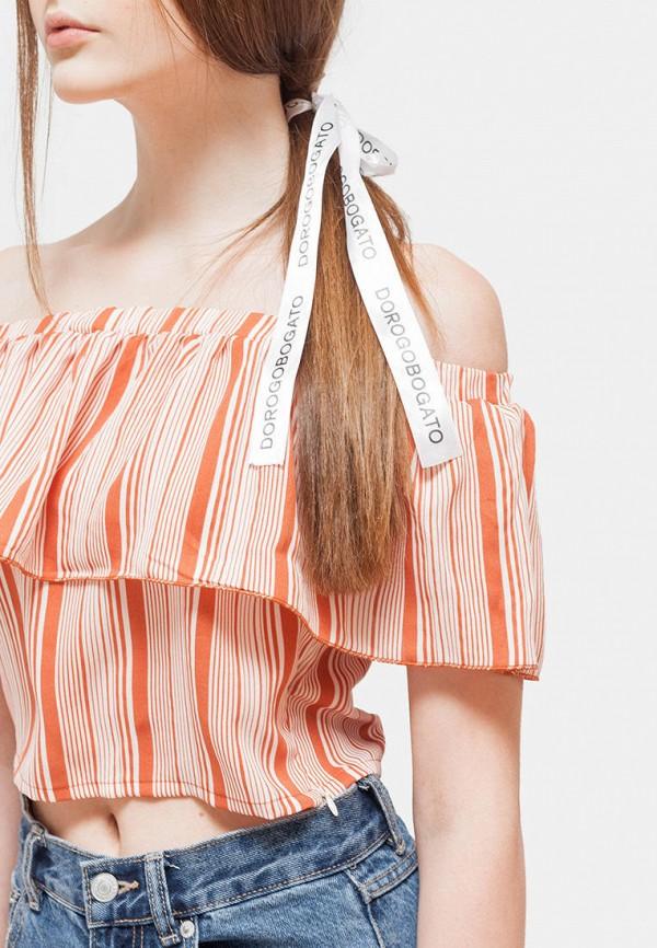 Фото 4 - Топ Dorogobogato оранжевого цвета