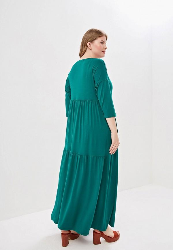Фото 3 - Женское платье Chic de Femme зеленого цвета