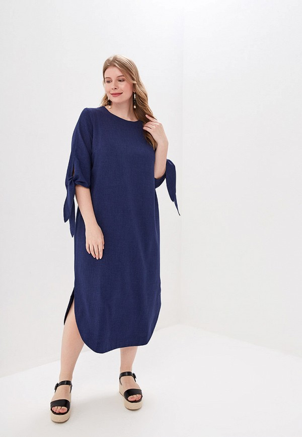 Фото - Женское платье Chic de Femme синего цвета