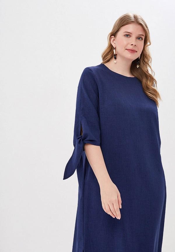 Фото 2 - Женское платье Chic de Femme синего цвета