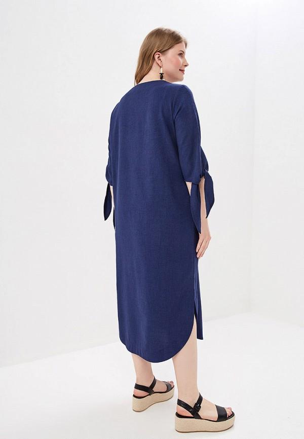 Фото 3 - Женское платье Chic de Femme синего цвета