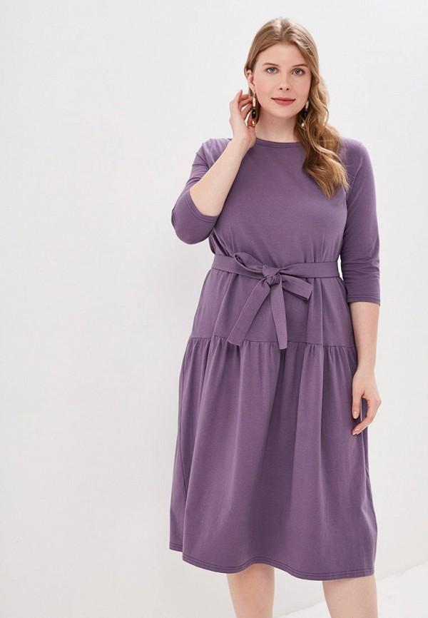 Фото 2 - Женское платье Chic de Femme фиолетового цвета