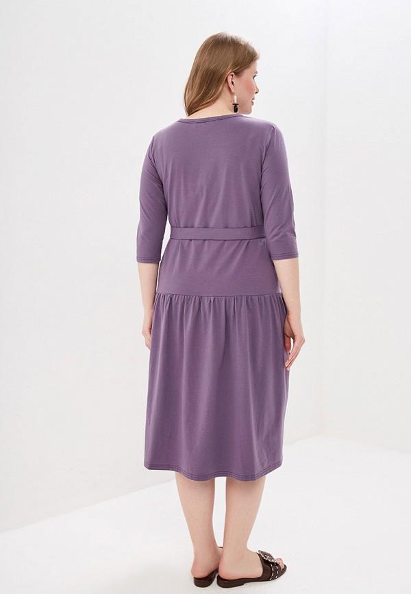 Фото 3 - Женское платье Chic de Femme фиолетового цвета