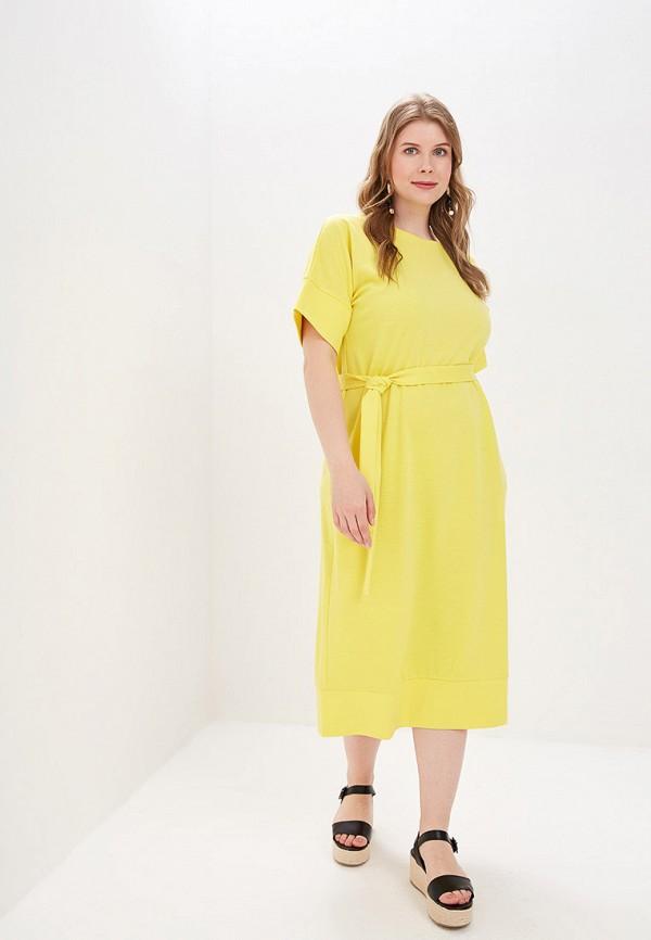 Фото - Женское платье Chic de Femme желтого цвета