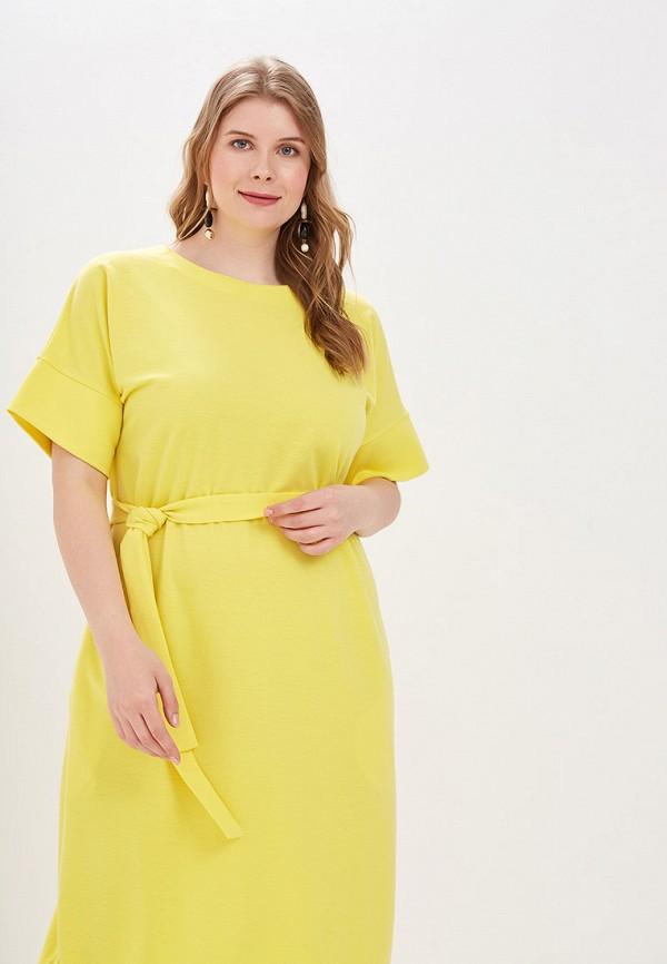 Фото 2 - Женское платье Chic de Femme желтого цвета