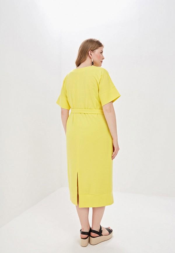 Фото 3 - Женское платье Chic de Femme желтого цвета