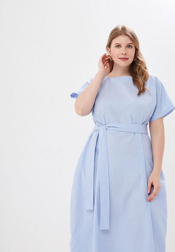 Фото 2 - Женское платье Chic de Femme голубого цвета