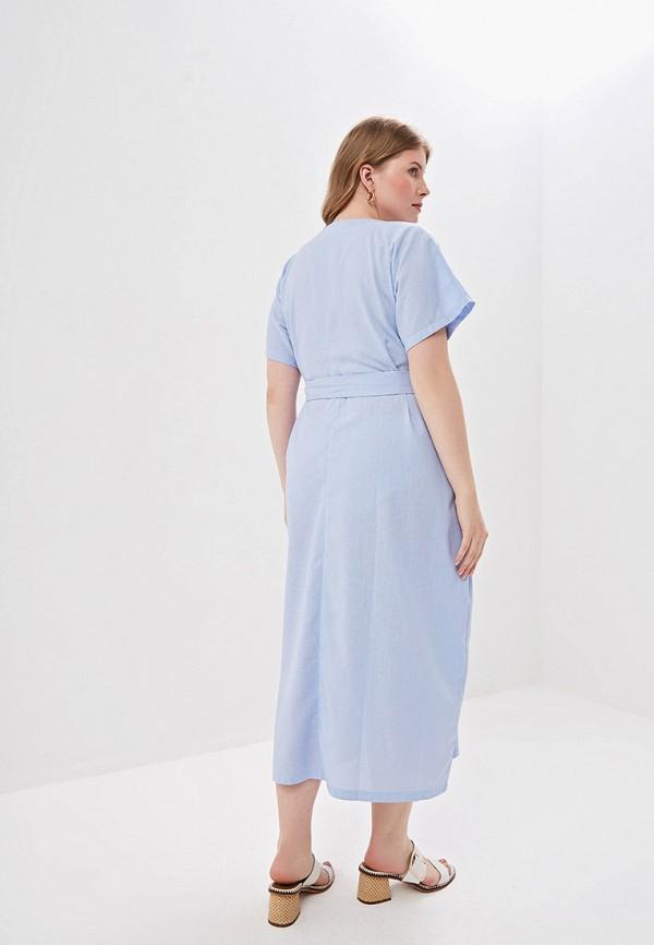 Фото 3 - Женское платье Chic de Femme голубого цвета