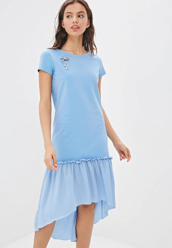 Фото 2 - Платье Fashion.Love.Story голубого цвета