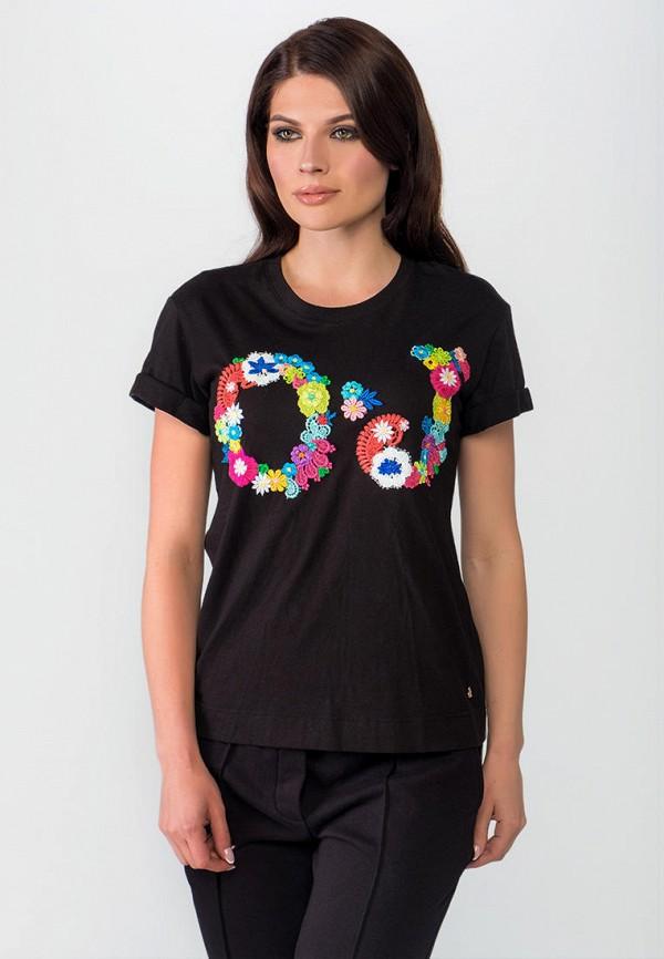 женская футболка o&j, черная