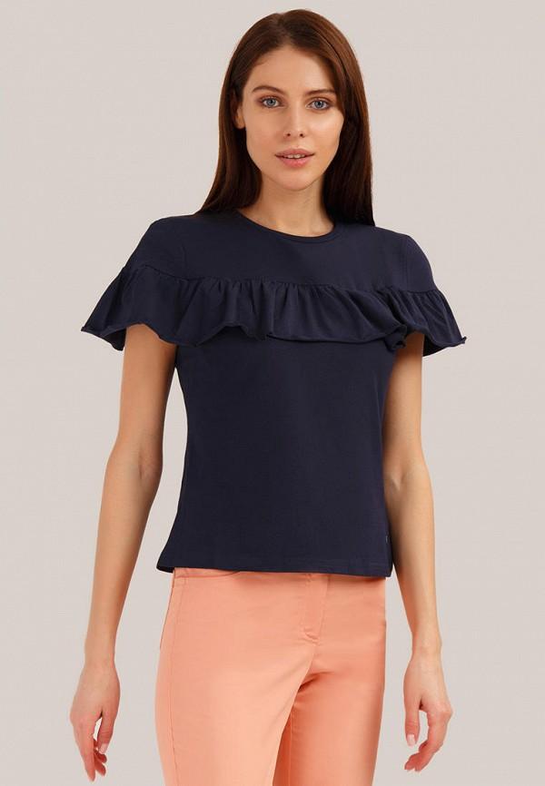 женская футболка finn flare, синяя