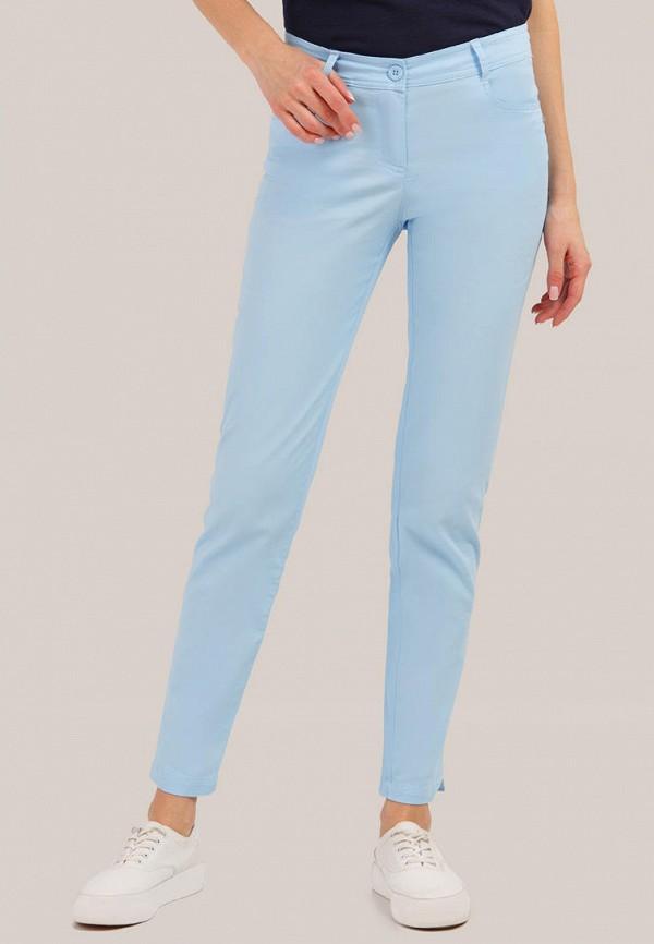 женские повседневные брюки finn flare, голубые