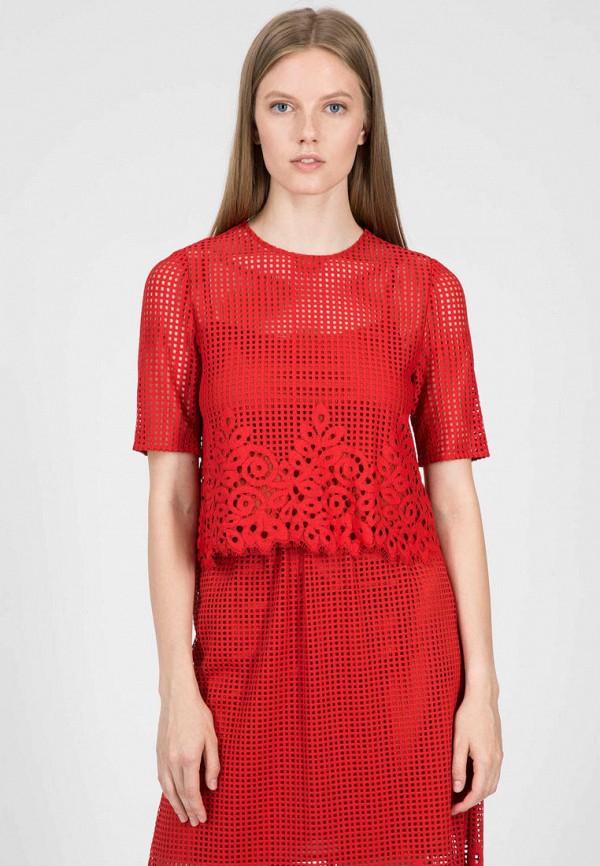 женская блузка tommy hilfiger, красная