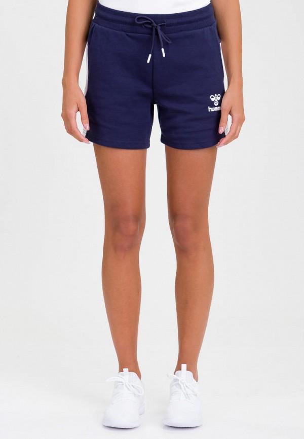 женские спортивные спортивные шорты hummel, синие