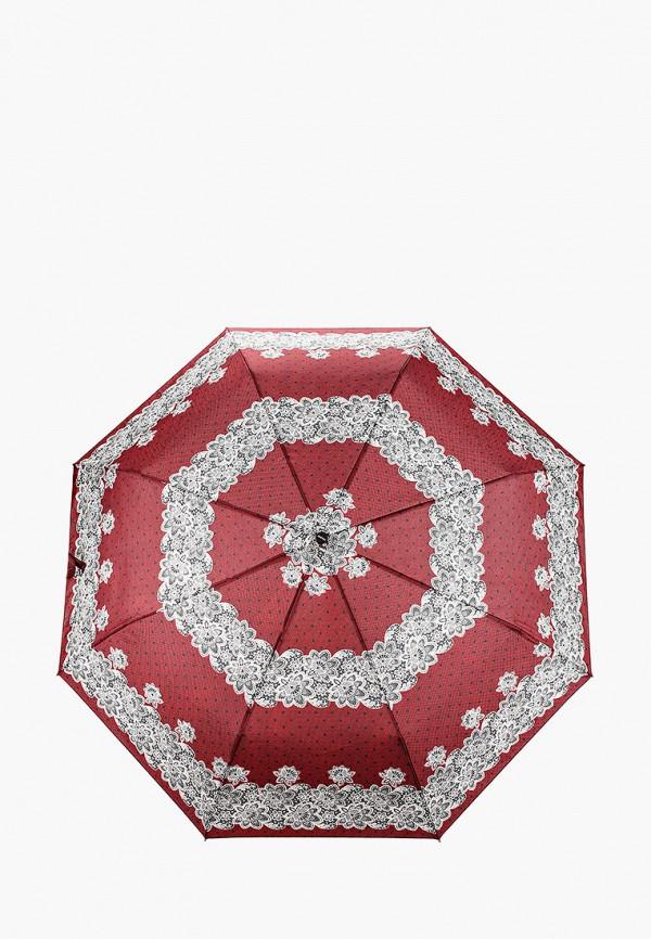 женский складные зонт doppler, бордовый