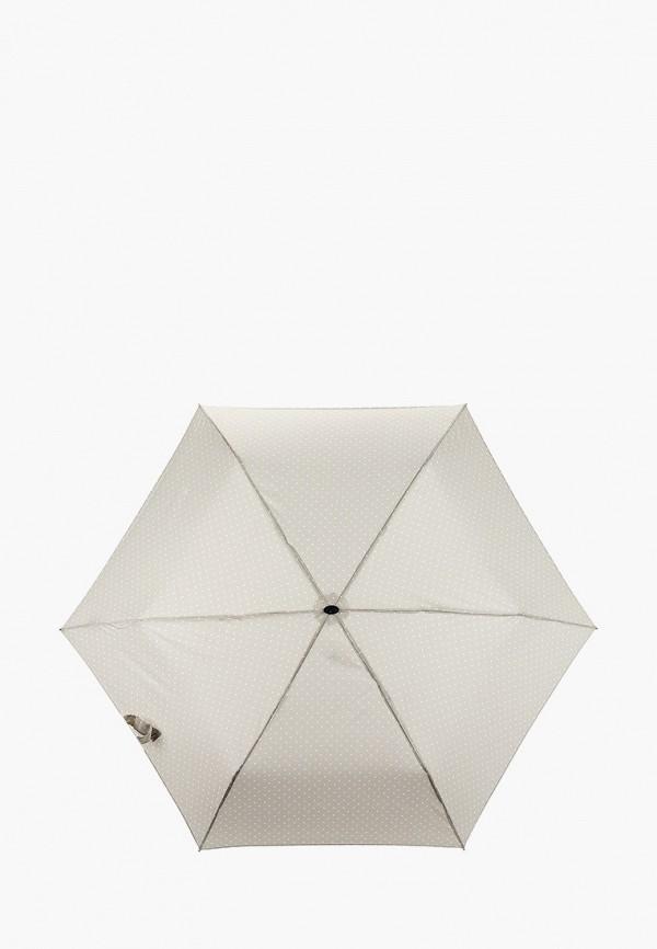 женский складные зонт doppler, бежевый