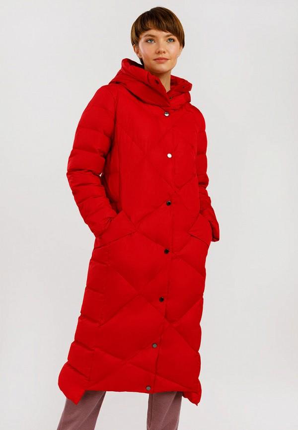 женский пуховик finn flare, красный