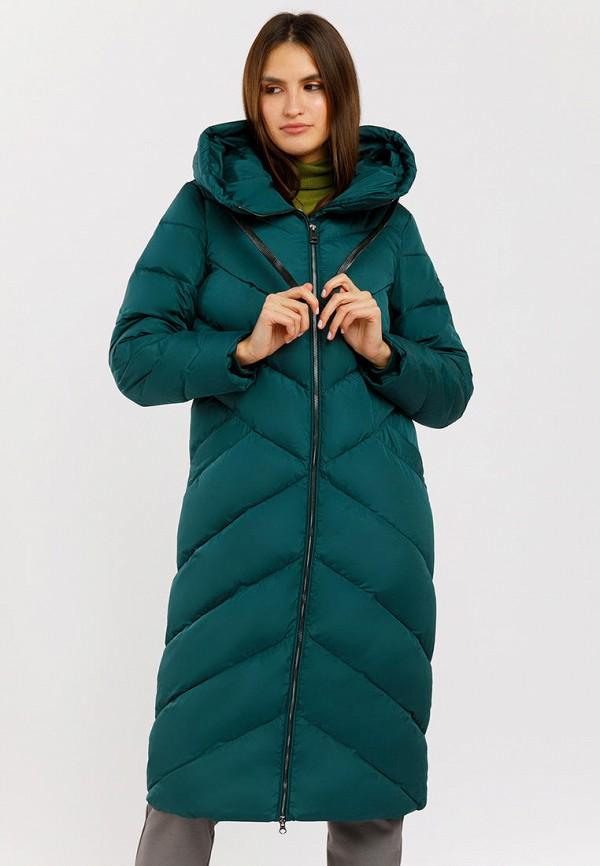 женский пуховик finn flare, зеленый