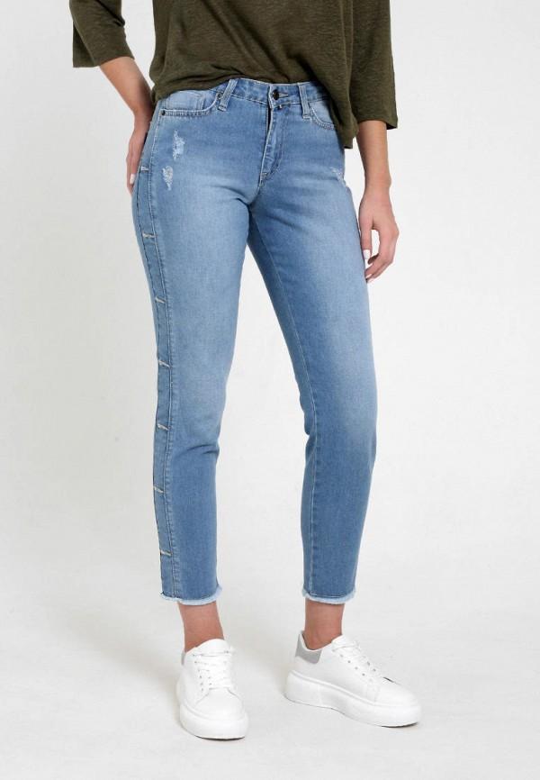 женские джинсы бойфренд f5, голубые