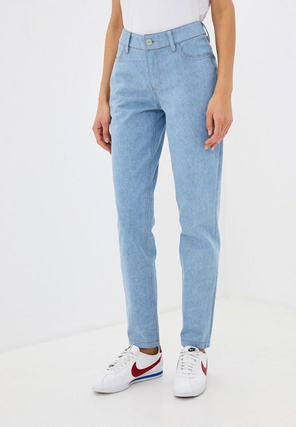 женские джинсы бойфренд hi art, голубые