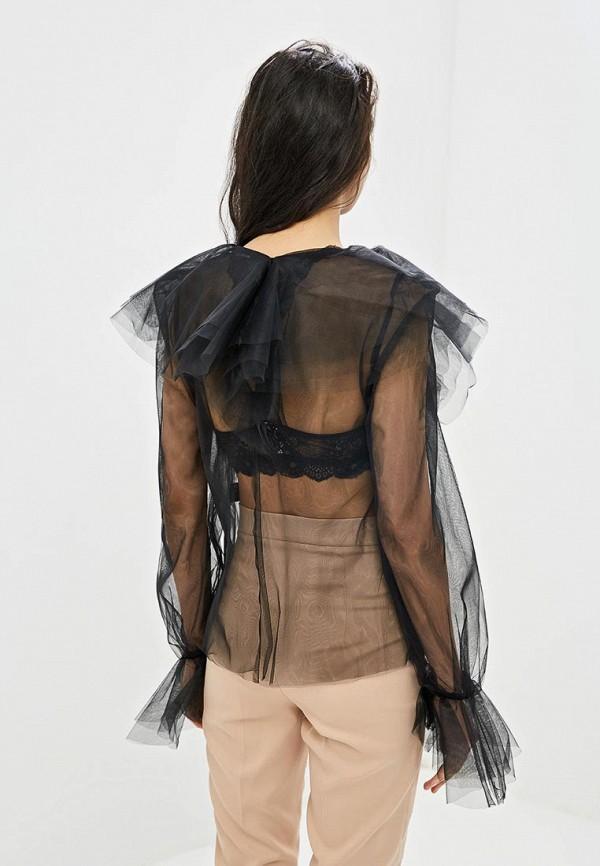 Фото 3 - Блузу Gepur черного цвета