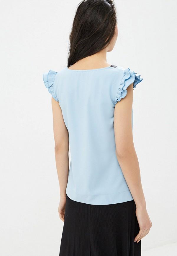 Фото 3 - Блузу Gepur голубого цвета