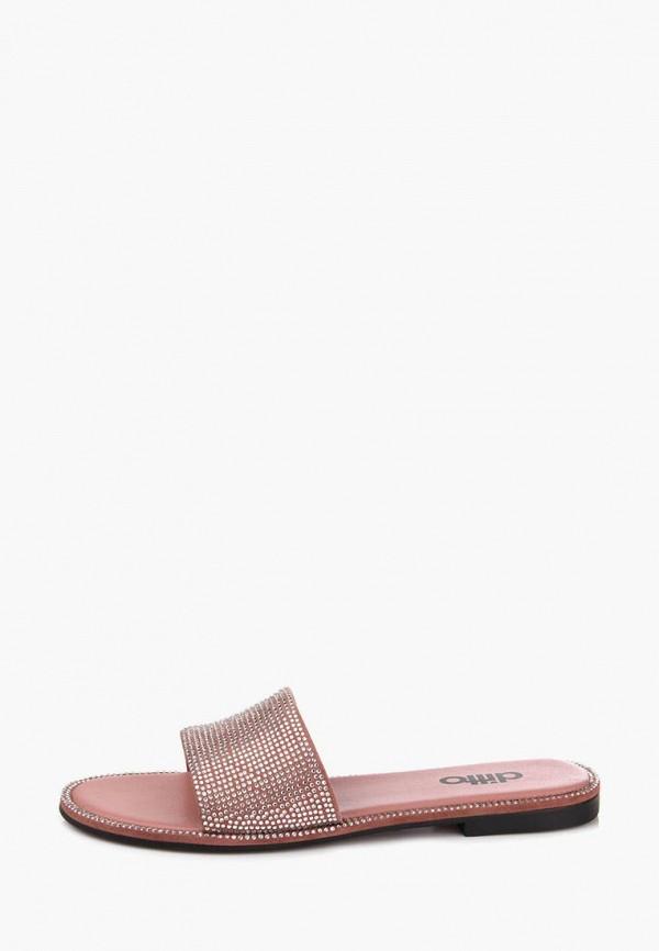 женское сабо ditto, розовое