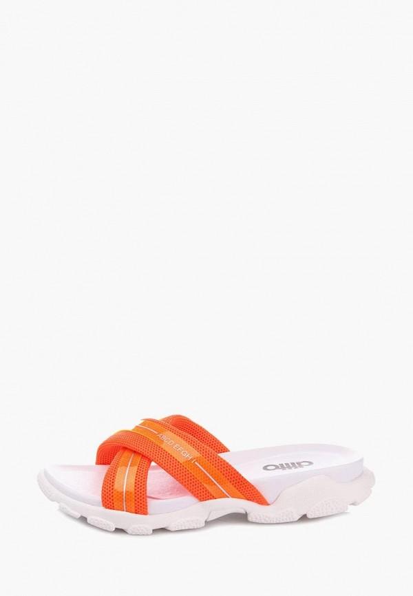 женские сланцы ditto, оранжевые
