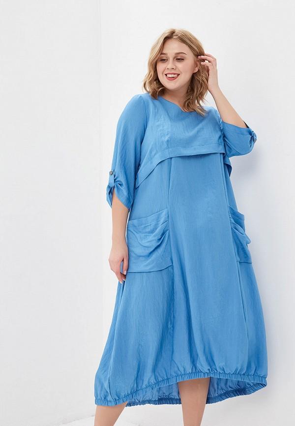 женское повседневные платье forus, голубое