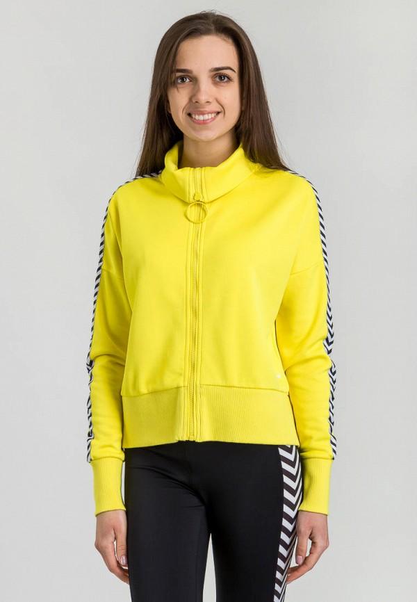 женская олимпийка hummel, желтая