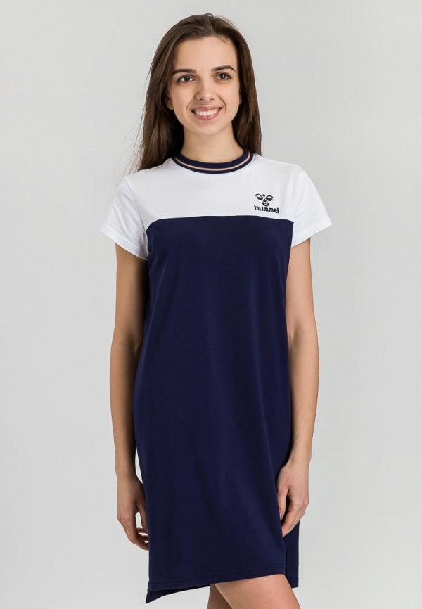 женское спортивные платье hummel, синее