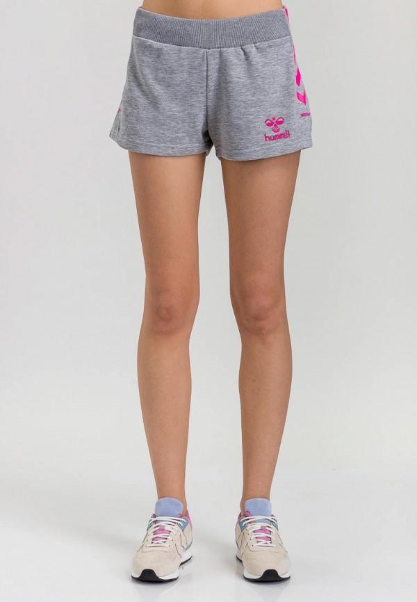 женские спортивные спортивные шорты hummel, серые