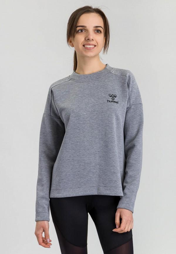 женский свитшот hummel, серый