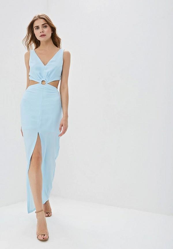 женское вечерние платье love republic, голубое