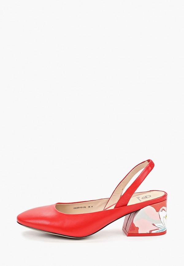 женские туфли эконика, красные