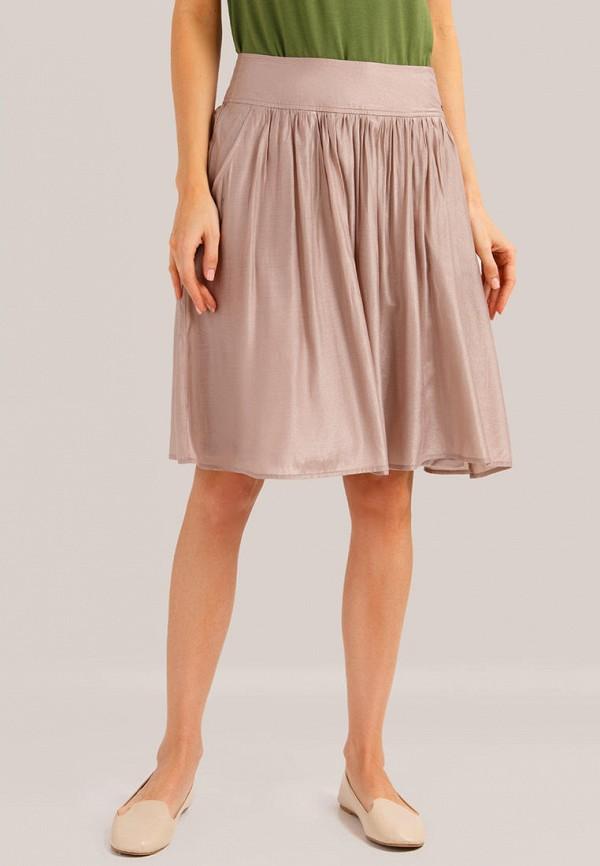 женская юбка finn flare, розовая