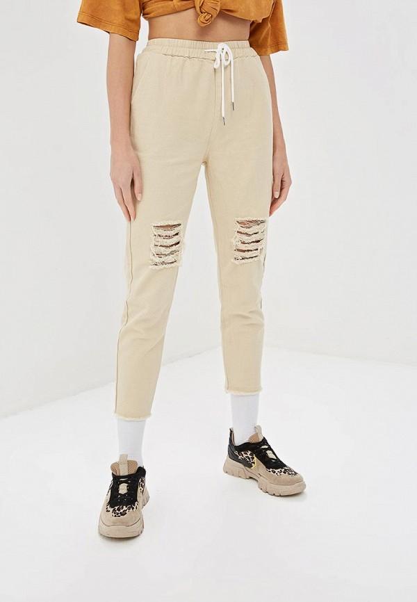 женские повседневные брюки elardis, бежевые