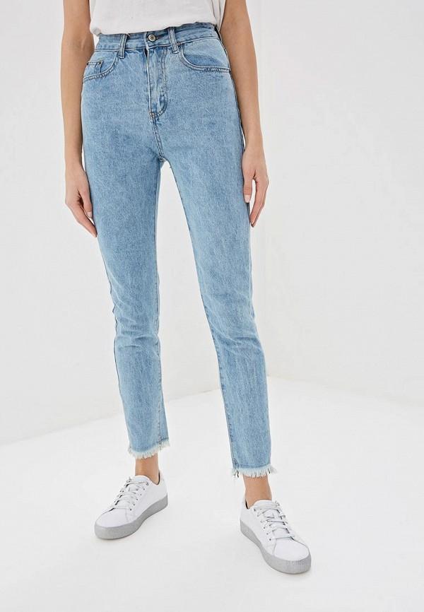 женские прямые джинсы elardis, голубые