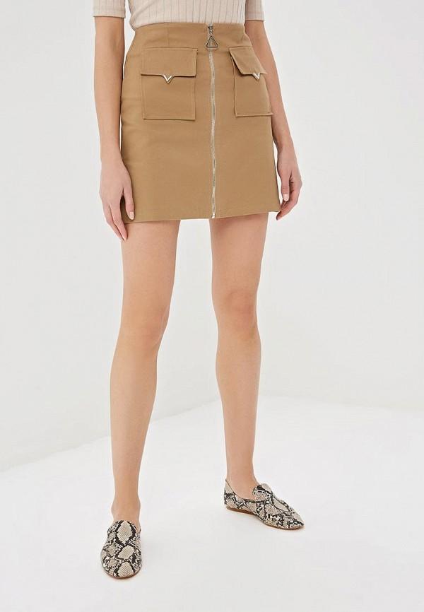 женская прямые юбка elardis, бежевая