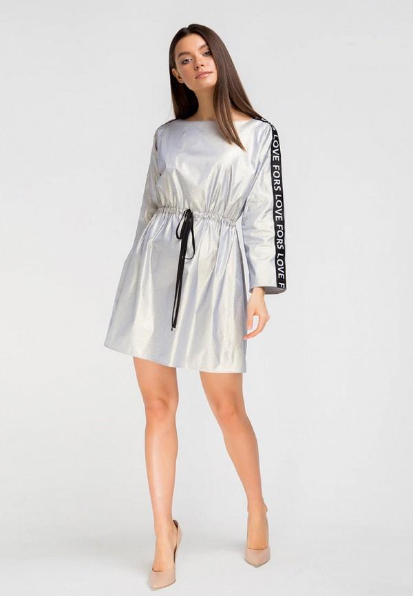Платье Fors цвет серый  Фото 4