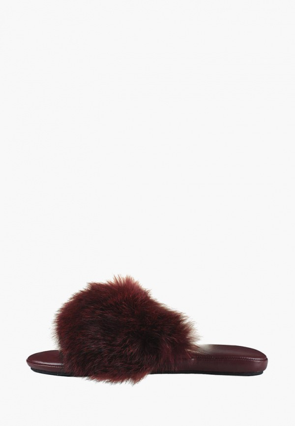 женские тапочки litvin, бордовые