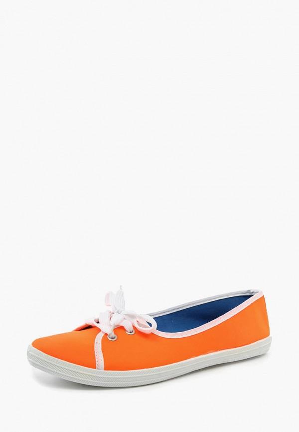 женские балетки alcott, оранжевые