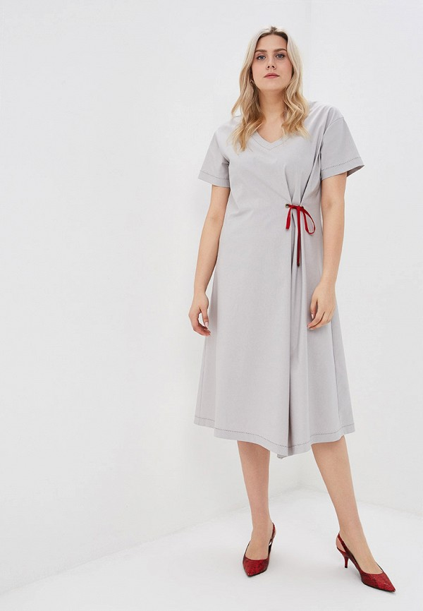 Платье Balsako Balsako MP002XW0214G свободное платье с воротником хомут balsako