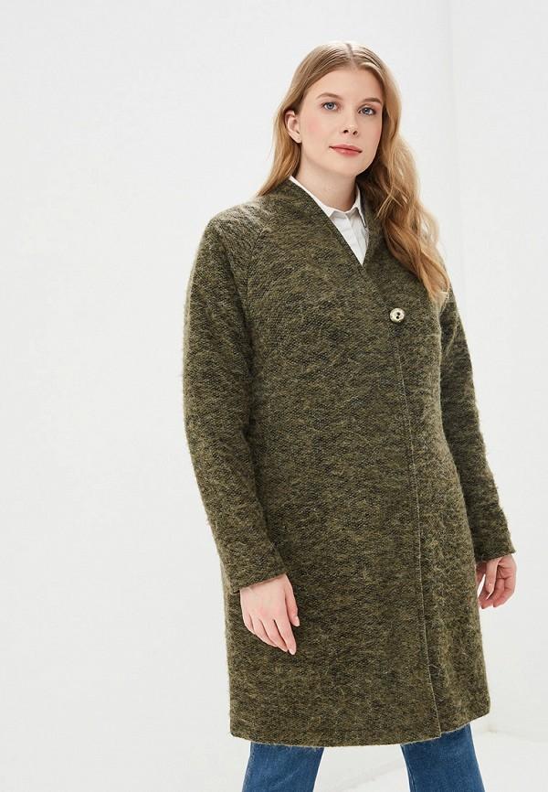 женское пальто kis, зеленое