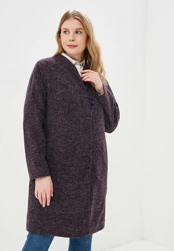 женское пальто kis, фиолетовое